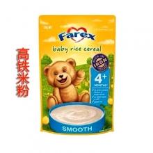 【超市代购】Farex婴儿高铁米粉/米糊辅食 纯米粉 4+ 125g