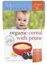 【澳洲直邮】 Bellamy's 贝拉米有机婴儿辅食大米米粉 6个月以上 西梅燕麦味 125g