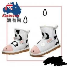 【预定款】EVER UGG 21494 白色小奶牛童款短靴