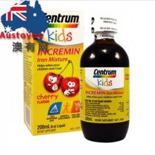 【澳有三仓】Centrum Kids儿童补铁口服液樱桃味 200mL 89元人民币包邮;3个起85元/瓶