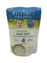【澳有三仓】 Bellamy's 贝拉米有机婴儿辅食大米米粉 4个月以上 125g 一袋40包邮,三袋起35元包邮!