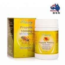【澳洲直邮】Ausway 高浓度蜂胶胶囊1000mg 100粒 降三高
