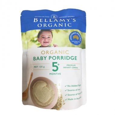 【澳有三仓】 Bellamy's 贝拉米有机婴儿辅食大米米粉 燕麦味 5个月以上 125g 一袋40元包邮,3袋起35元包邮