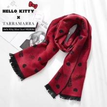 【澳洲直邮】TA*Hello Kitty Scarf No828006黑红/粉灰什么神仙卡通围巾 199包邮