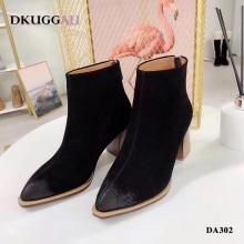 【国内发货】DA302后拉链木根时尚短靴 团购价:279  代理价:  289