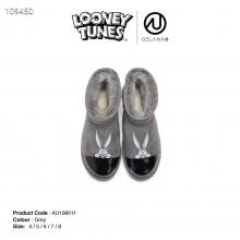 【国内发货】AU198011 兔巴哥漆皮拼接雪地靴  vip价格:315元