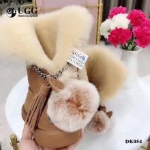 【国内发货】DK054流苏款小耳朵毛球雪地靴 团购价:369  代理价:379