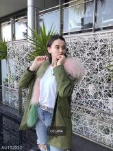 【国内发货】AU192032 皮草 军绿色+薄荷冰淇淋狐狸毛