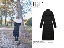 【国内发货】EDW0003 长款皮草羽绒派克服大衣