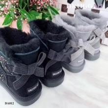 【国内发货】DA012蝴蝶结饰扣雪地靴 团购价:249  代理价:  259