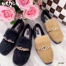 【国内发货】DA204兔毛装饰乐福鞋 团购价:259  代理价:269