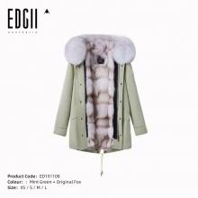 【国内发货】ED191108 皮草 薄荷绿壳+ 本色狐狸毛