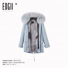 【国内发货】ED191103 皮草 雾蓝壳+墨灰蓝狐狸毛