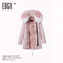 【国内发货】ED191099 皮草 粉壳+珊瑚粉狐狸毛
