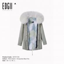 【国内发货】ED191105 皮草 薄荷绿壳+ 崧绿蓝狐狸毛