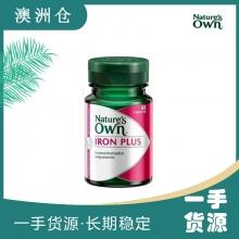 【超市代购】Nature's Own Iron Plus 补铁营养片50片