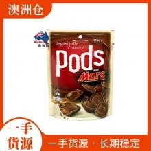 【超市代购】Mars Pods 玛士夹心脆巧克力脆酥饼 176g 两种口味