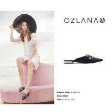【国内发货】AU201018 珍珠平底穆勒鞋