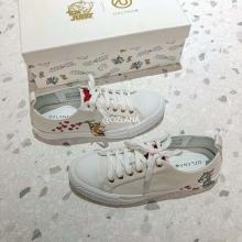 【国内发货】AU209017 涂鸦爱心帆布鞋