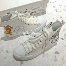 【国内发货】AU209018 高帮帆布鞋