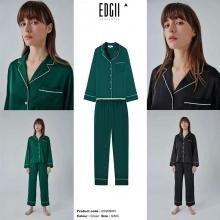 【国内发货】ED206001镶边睡衣套装